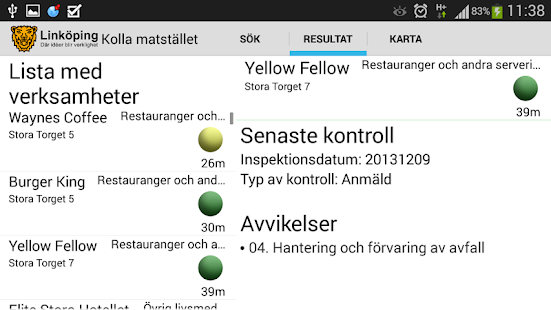 Kolla Matstället - screenshot thumbnail