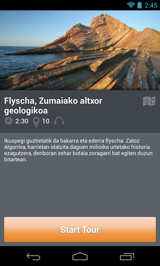 Zumaia Audio Gida: captura de pantalla