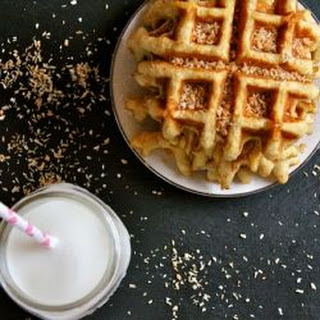 Toasted Coconut Waffles.
