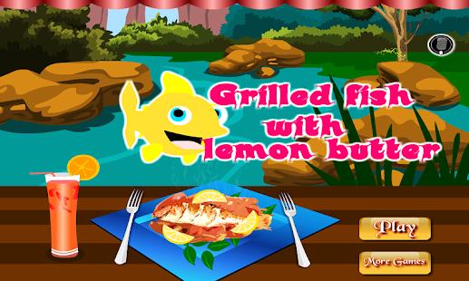 烹飪烤魚檸檬