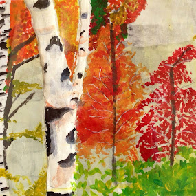 Drawn and painted by 8 y.o. by Wendy Schultz - Mixed Media All Mixed Media (  )