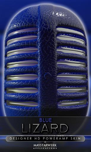 Poweramp skin blue lizard