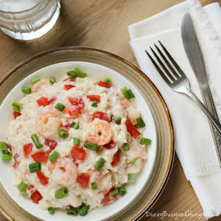 Creamy Rice and Shrimp.