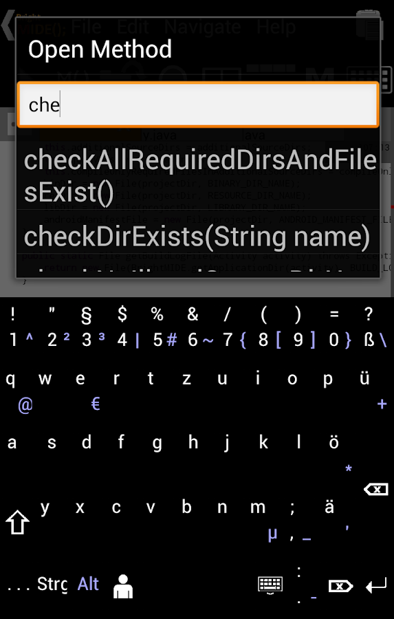 Bright M IDE: Java/Android IDE - screenshot