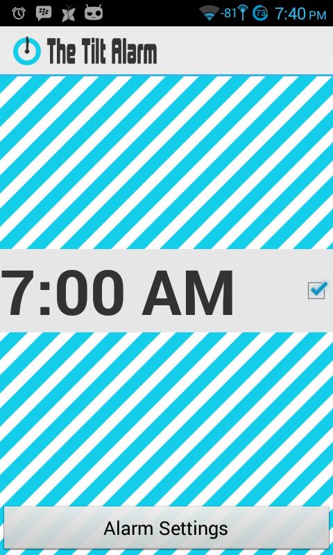 The Tilt Alarm - AdFree - screenshot