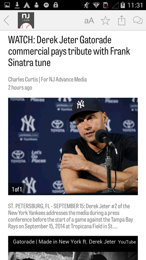 NJ.com: New York Yankees News- screenshot