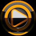 Poweramp skin Black Orange icon