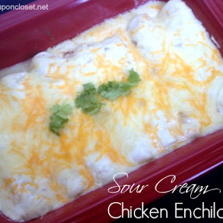 The BEST Sour Cream Enchiladas