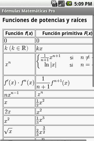 Fórmulas Matemáticas - screenshot