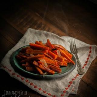 5 Ingredient Cinnamon Spice Roasted Carrots.