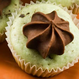 Gluten Free Mint Chip Cupcakes