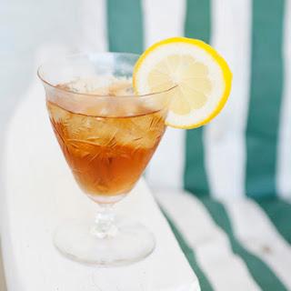 Bergamot Iced Tea Cocktail.