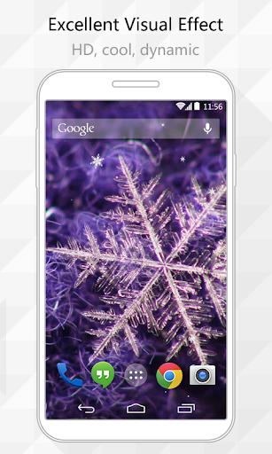 Color Snowflake Live Wallpaper
