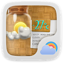 Bottle Free Theme GO Weather icon