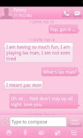 Screenshot of Pink GO SMS Theme