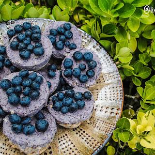 Blueberry Nice Cream Pies