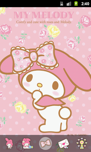 My Melody Comfy Roses Theme