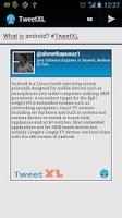 Screenshot of TweetXL