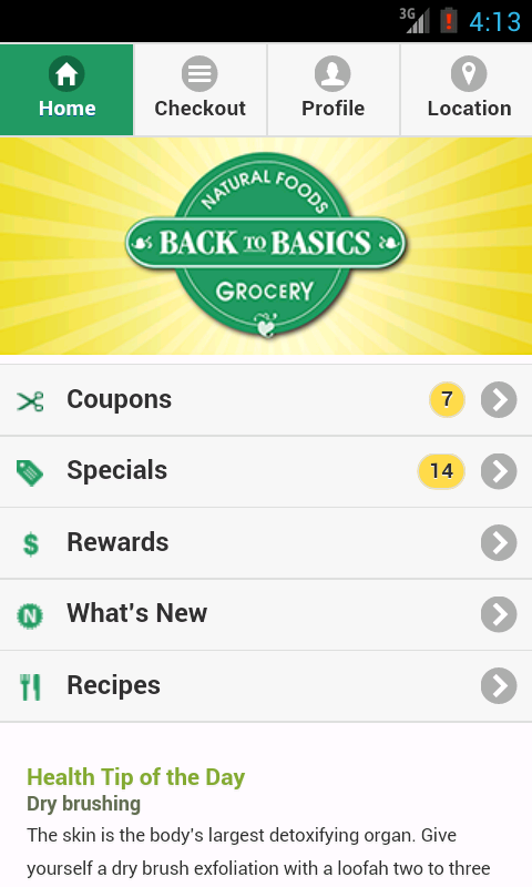 Back To Basics Natural Foods- screenshot