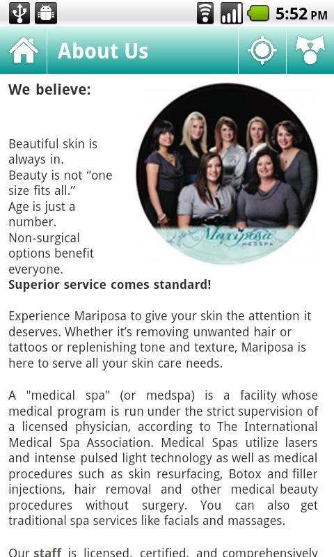 Mariposa MedSpa - screenshot