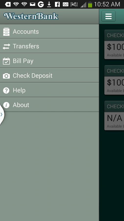 Western Bank Mobile - screenshot