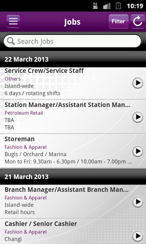 Jobs & Courses @SIRS- screenshot