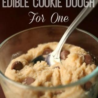 Edible Sugar Cookie Dough For One.