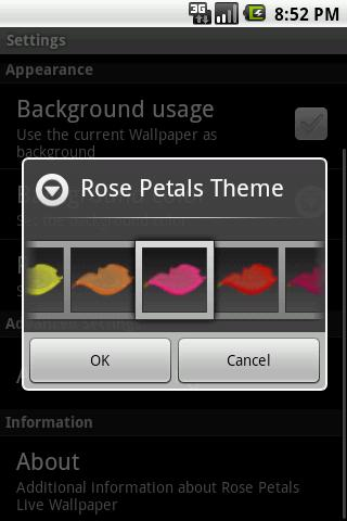 Rose Petals Live Wallpaper- screenshot