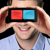3D glasses simulator