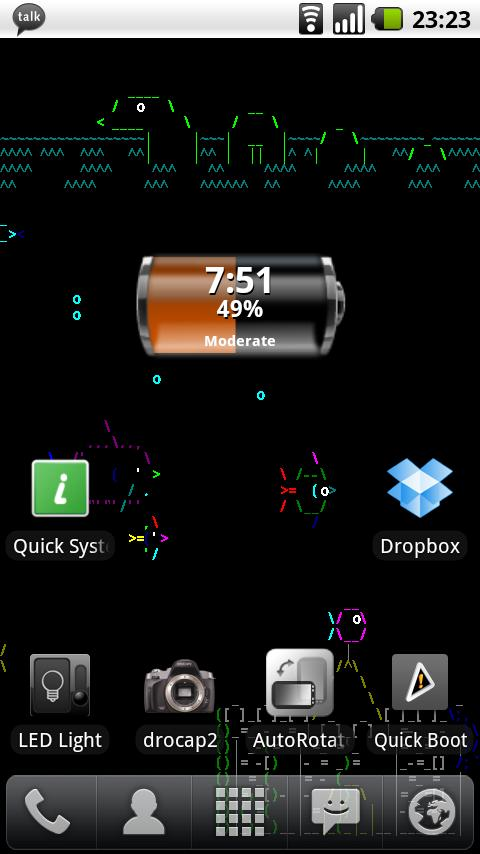 Asciiquarium Live Wallpaper - screenshot