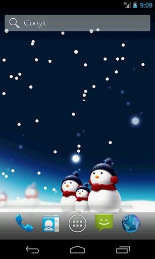 圣诞雪人壁纸