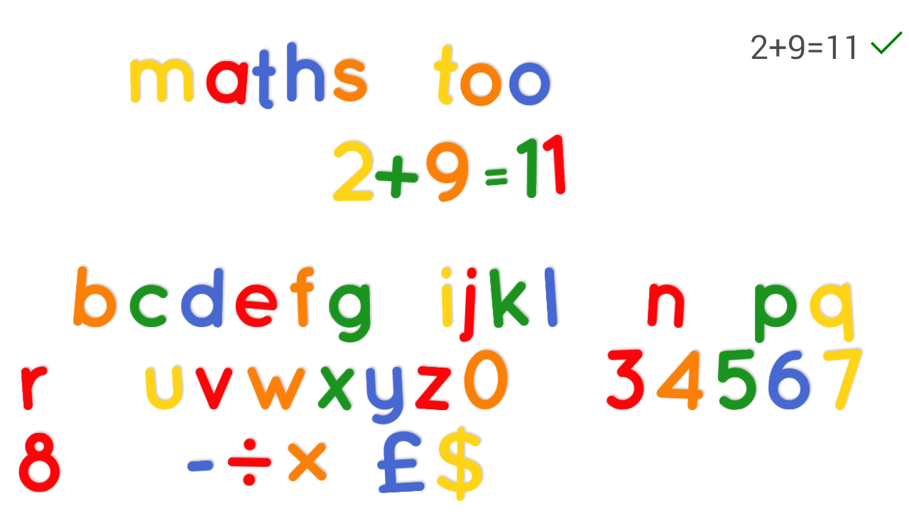 fridge magnet lettersnumbers screenshot