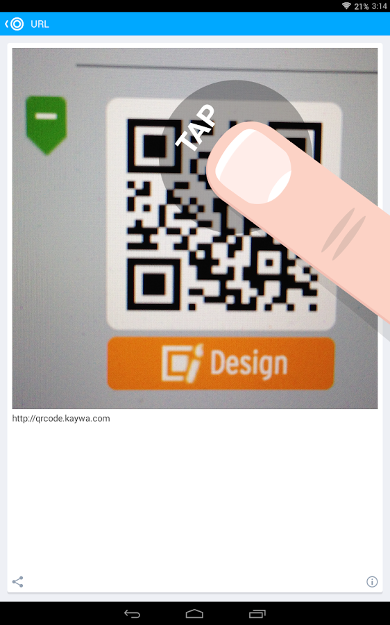 Der QR Code Reader von Kaywa – Screenshot