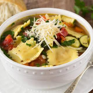Ravioli Soup.