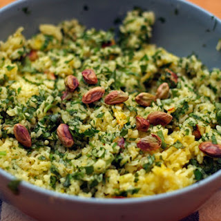 Green Rice with Pistachios
