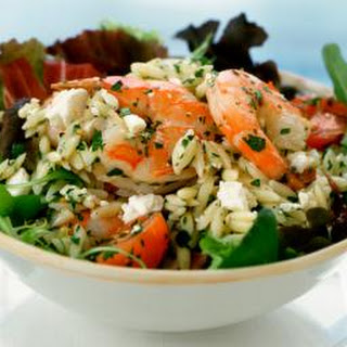 Lanie's Basil Shrimp With Orzo and Feta Cheese
