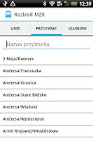 Screenshot of Rozkład MZK Bielsko-Biała