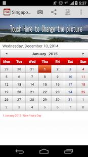 Singapore Calendar - screenshot thumbnail