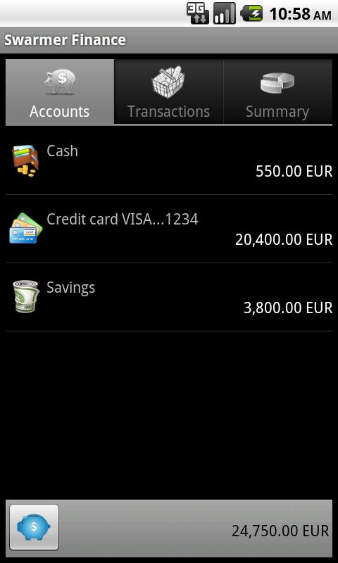 Swarmer Finance - screenshot