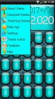 Screenshot of SCalc theme Jelly Cyan