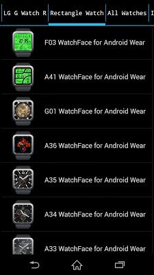WatchFace Shop for AndroidWear - screenshot