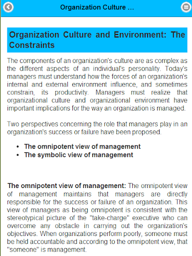 the omnipotent view of management