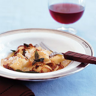 Ravioli with Brown Butter and Sage.