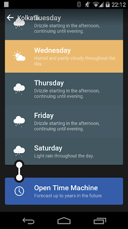 Weather Timeline - Forecast - screenshot