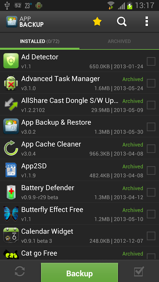 App Backup & Restore - screenshot