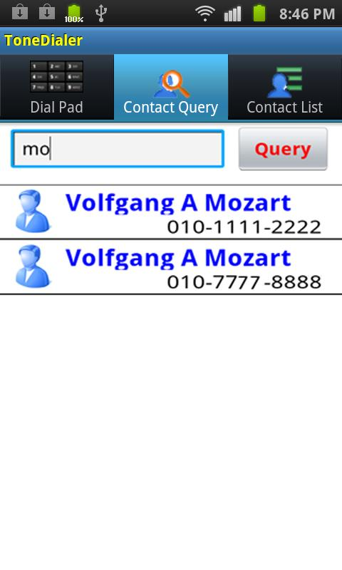 DTMF tone Dialer- screenshot