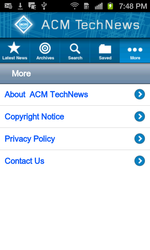ACM TechNews - screenshot