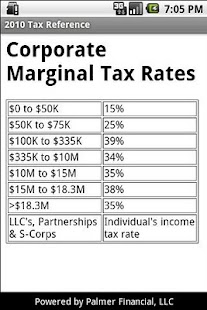 2010 Tax Reference - screenshot thumbnail
