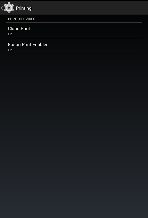 Epson Print Enabler- screenshot