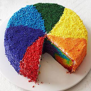 Rainbow Pinwheel Cake